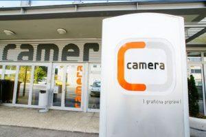 Tisk na nalepke Camera
